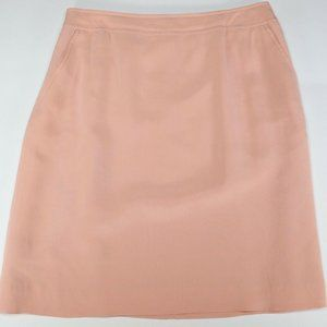 Liz Claiborne Women Peach Mid Skirt 100% Silk